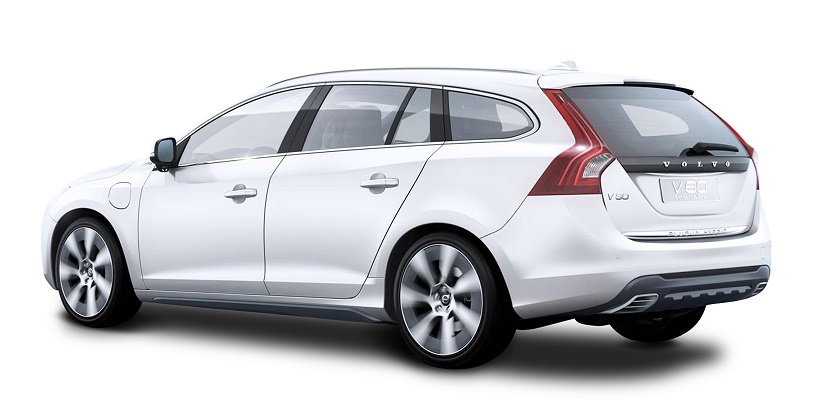 volvo v60 white background s